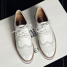 英倫風雕花 厚底鞋