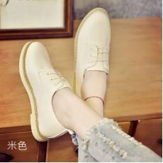 顯瘦英倫風彷皮平底休閑鞋