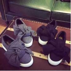 大蝴蝶結 厚底鞋 平底鞋