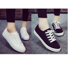 平底帆布鞋 (2色選黑色, 白色)