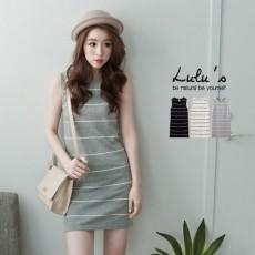 (現貨) 台灣原單(26702N)針織橫紋洋裝