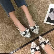 (SH013) 蝴蝶結尖頭平底鞋